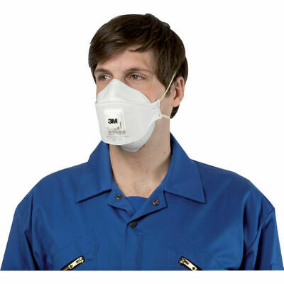 3m 9332+ Disposable Valved Respirator Dust Face Mask FFP3 N99 Flu Protection