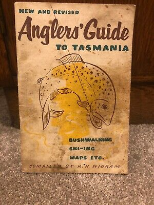 Anglers Guide To Tasmania Revised Edition By R H Wigram Rare Fishing Book 1959