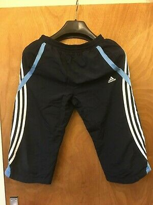 Adidas 3/4 Tracksuit bottoms Size 28 Blue -  Boys Girls