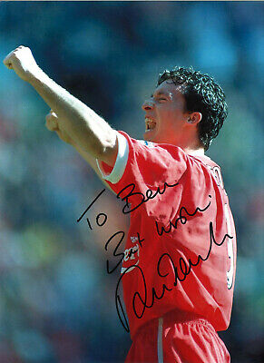 Robbie Fowler Liverpool 16 x 12 inch hand signed authentic football photo SS294D