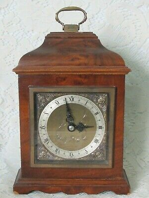 Antique Elliott Of London Walnut Mantle / Bracket Clock