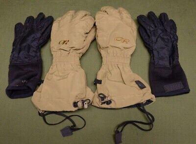 NEW Outdoor Research GORE-TEX Firebrand Glove Shells Coyote Small 71886