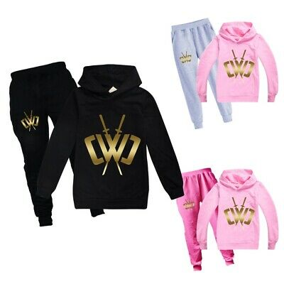 New Chad Wild Clay Kids Boys Girls 2PCS Tracksuit Casual Hoodies Pants Outfits