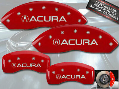 MGP Caliper Covers 4 pc Front /& Rear engraved for 2014-2016 Mercedes CLA250-Red