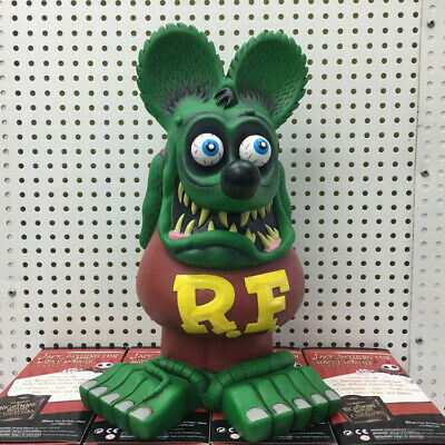"""13"""" Green Brown Rat Fink Figure Action Roth Ed Big Daddy Statue Model Toy"""