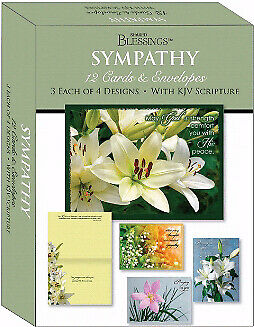 Card-Boxed-Shared Blessings-Sympathy Lilies (Box Of 12)