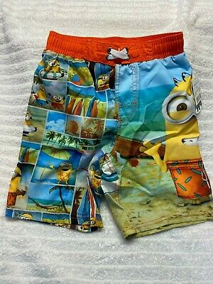 NEW DESPICABLE ME MINIONS BOYS BOARDIE SHORTS BOARDSHORTS SIZE 12
