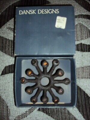 dansk designs danish spider candle holder new old stock in box