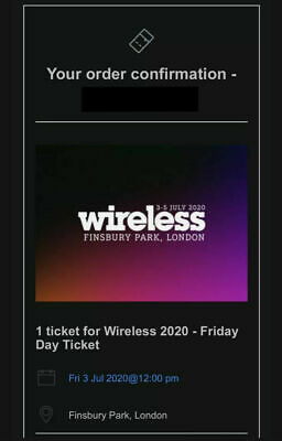 Wireless Festival Friday 1 Ticket 2020