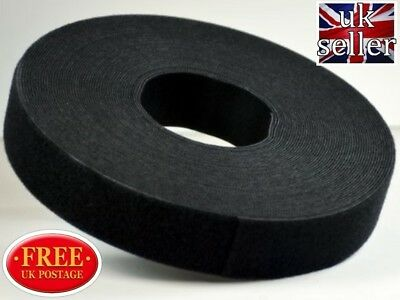 VELCRO® BRAND Hook & loop ONE WRAP® double sided Strapping 1 metre x 50mm  black
