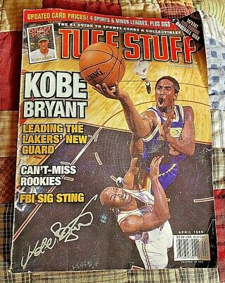 Kobe Bryant Feature Article Tuff Stuff Sports Cards  Price Guide April 1998