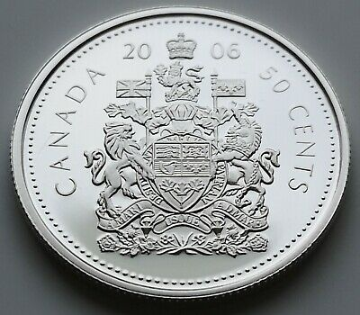 *** Canada  50  Cents  2006  Proof  Heavy  Cameo  ***  Sterling  Silver  ***