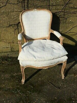 Vintage French Louis XV Style Upholstered Arm Chair