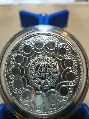 Antiqued 1776 continental Shilling coin chunky colonial coinage 2 oz .999 silver