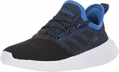 Kids Adidas Girls lite racer Canvas Low Top Lace Up, Black/White/Blue, Size 2.0