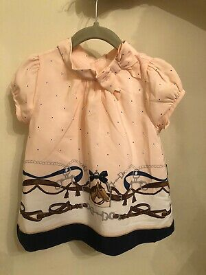Jamie And Jack Girls Size 4 Blouse Top Shirt Pale Pink