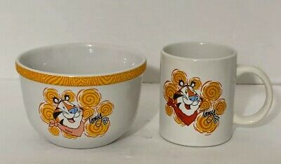 Tony The Tiger 2002 Kellogg Company  Collectors' Coffee Mug And Cereal Bowl Set