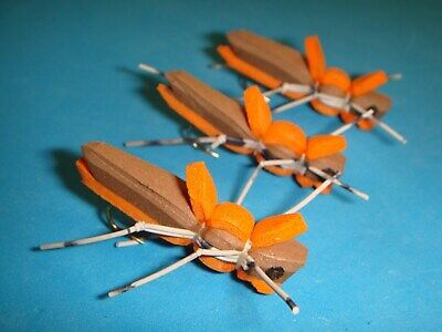 6 EA D-2 LETORT HOPPER/'S NYMPHS ***GREAT BUG*** SIZES