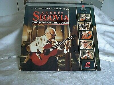 classica, ANDRES SEGOVIA, the song of the guitar, LASERDISC
