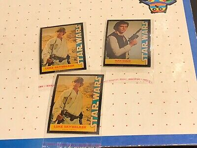 1977 Star Wars Wonder Bread Collector Cards Lot Of 3- D-91