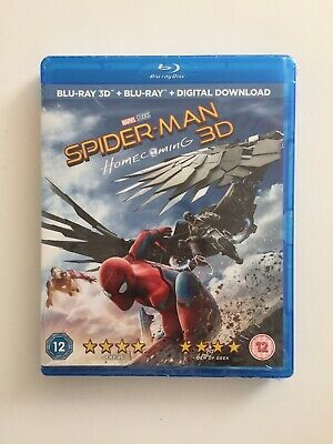 Spider-Man Homecoming [Blu-ray 3D + Blu-ray 2017] *BRAND NEW & SEALED*