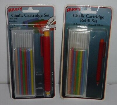 New Lot of 2 Allary Chalk Cartridge & Refill Set Sewing Quilting