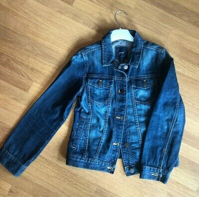 GAP KIDS GIRL DENIM JACKET DARK INDIGO - SIZE L (10-11 Y.O., 140cm)