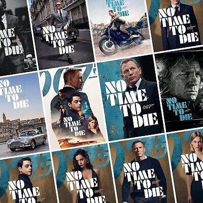 JAMES BOND: NO TIME TO DIE Movie PHOTO Print POSTER 007 Cast Art Character Film