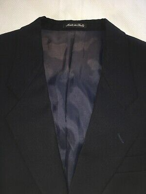 Vito Rufolo Men's 42R Dark Navy Single Breasted 2 Piece Suit 100% Wool