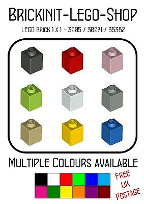 LEGO Parts 3005 Brick 1 x 1 1-STUD BLOCK Assorted CHOOSE YOURS Various USEFUL