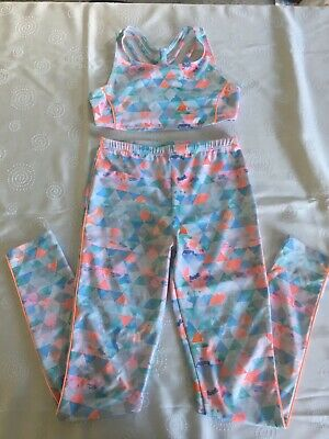 Pop by Monsoon, Matching Crop Top & Leggings, Age 11-12 Years, VGC