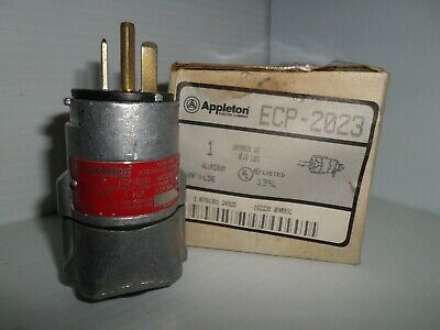 *NEW*APPLETON ECP-2023 20A EXPLOSION PROOF PLUG 125V Mates W/EFSR2023 RECEPTACLE