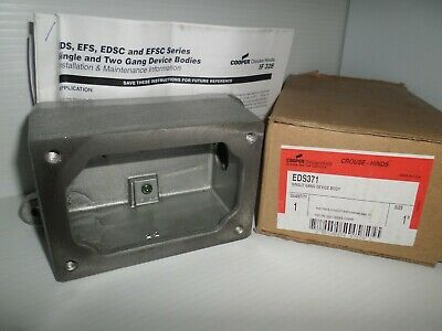 """**New In Box** Crouse-Hinds Eds371 Explosion Proof Control Station Back Box 1"""""""