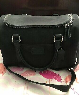 Coach unisex Black Hamptons Travel Bag