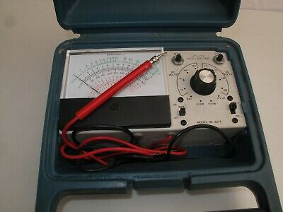 Vtg Heathkit Utility Solid-State Voltmeter IM-5217 w Carrying Case -