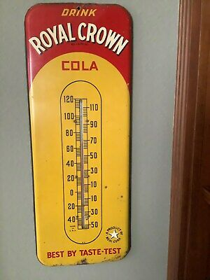RC Cola 1940's Vintage Wall Thermometer