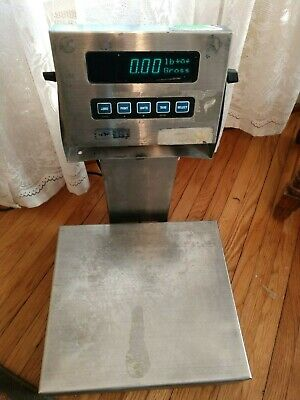 GSE 450 screen with 72 lb platform scale - Tested and Working