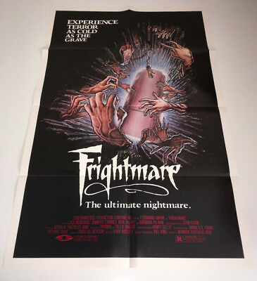 FRIGHTMARE Movie Poster Horror Rare 1983 VHS