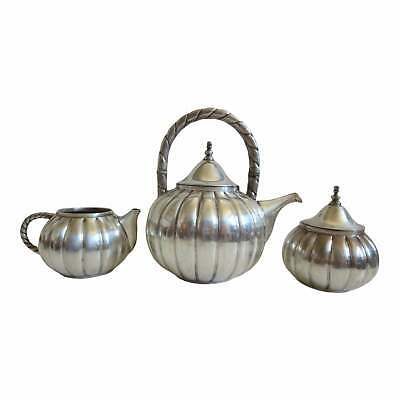 Juventino Lopez Reyes Mexican Modernist Sterling Silver Tea Set - 47.5 OZT