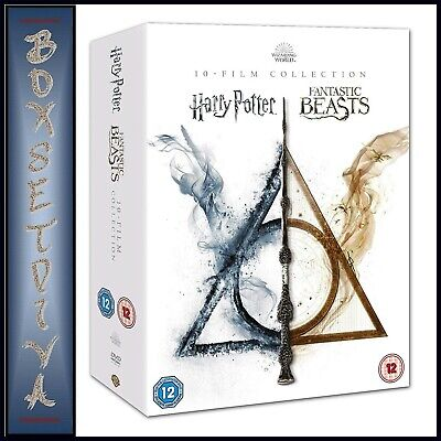 Wizarding World 10 Film Collection- Harry Potter And Fantastic Beasts Dvd Boxset