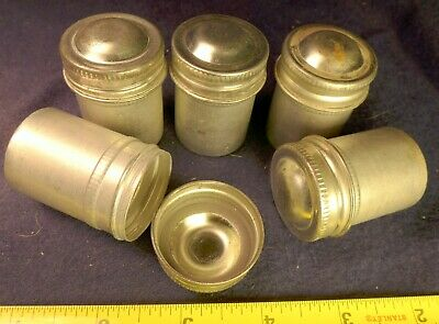 5  KODAK METAL FILM CANS 35mm VINTAGE CANISTER - STORAGE, GEOCACHE