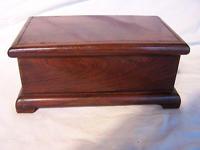 Vintage Antique Wooden Timber Velvet Lined Box Chest Trunk Jewelry