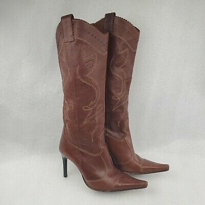 Ralph Lauren Size 39 Brown Brown Knee High Heel Stiletto Boots