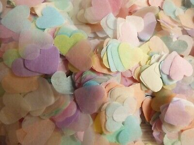 1200 Pastel and Mixed Coloured, Wedding, Party, Biodegradable Throwing Confetti