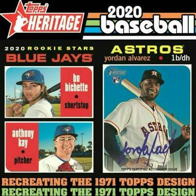 2020 Topps Heritage #401-500 Short Prints, Sp, You Pick, Complete Your Set, Mint