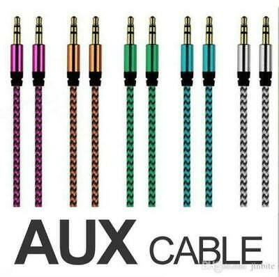 Aux Cable Audio Lead 3.5mm Jack to Jack Stereo Male for Car PC Phone UK