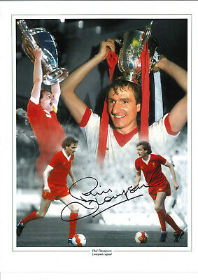 Phil Thompson Liverpool 16 x 12 inch hand signed authentic football photo SS323