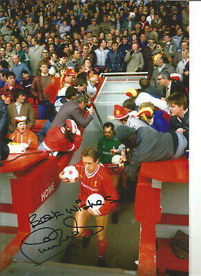 Phil Neal Liverpool 12 x 8 inch hand signed authentic football photo SS321G