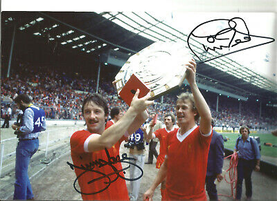Jimmy Case Phil Neal Liverpool 10 x 8 inch signed authentic football photo SS321