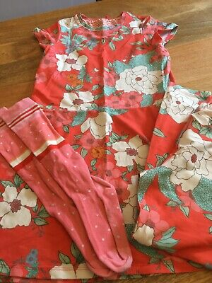 Oilily Girls Dress, Leggings & Socks Age 8-9 Years Great Condition